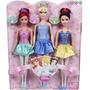Ariel, Cenicienta Y Blancanieves Bailarinas Mattel Pack X 3