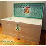 Baúl- Cajón Para Guardar Juguetes Mickey Minnie Pluto Disney