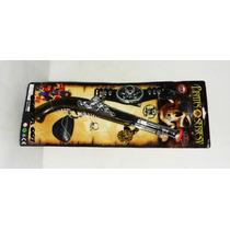 Set De Pirata Pistola + Parche + Cinto + Pistola + Anillo +