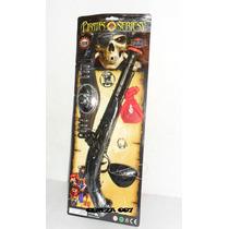 Set De Pirata Pistola + Parche + Cinto + Pistola + Anillo