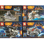 Lego Space Wars Marca Lider Sy205a-205b-205c-205d Stock Disp