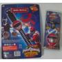 Power Rangers Lanza Discos + Trompo Musical, Imperdible!