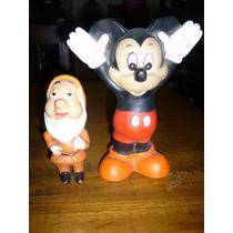 3 Antiguos Muñecos De Goma Disney