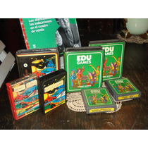 Cartuchos Atari 2600 Edu Juegos 4 Con Estuches (5164)