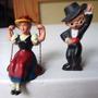 Muy Antiguos Muñecos Miniatura: Bailarin Flamenco Y Niña