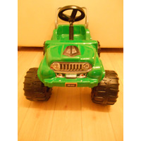 Jeep 4x4 A Pedal Infantil C/barra Antivuelco Ruedas Patonas