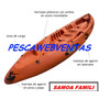 Kayak Rotomoldeado Doble/triple Samoa Famili Incluye 2 Remos
