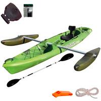 Kayak Rocker Twin Con Flotadores + Remo + Butaca + Silbato +