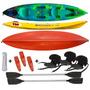 Kayak K3 Triplo Atlantik Remos Asientos Silbatos Cabo