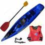 Kayak Rocker Wave Con Remo Y Asiento Chaleco Salvavidas