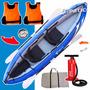 Kayak Canoa Inflable 1-2 Personas Frontier Sportek Completa