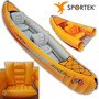 Bote Inflable Canoa Indika Para 2 Personas Kit Completo