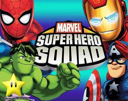Kit Escuadron De Super Heroes Diseñá Tarjetas ,cumples - $ 34,00 ...