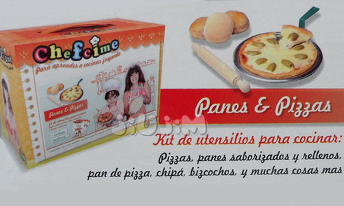 Kit Fabrica Pizza, Pan,torta,dulces Chefcime Video Tv Jiujim