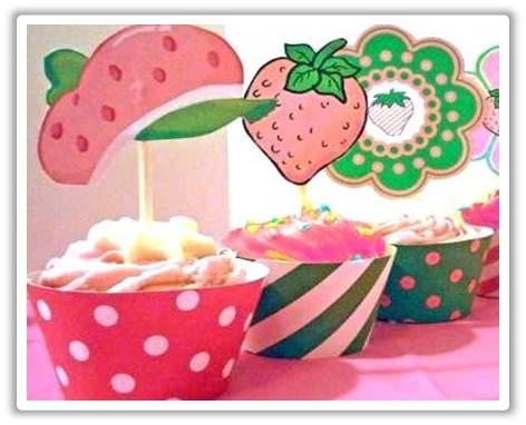 Cotillon de frutillita para cumpleaños - Imagui