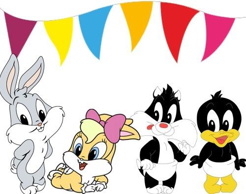 Kit Imprimible Looney Tunes Bebes Diseñá Tarjetas, Cumples - $ 34 ...