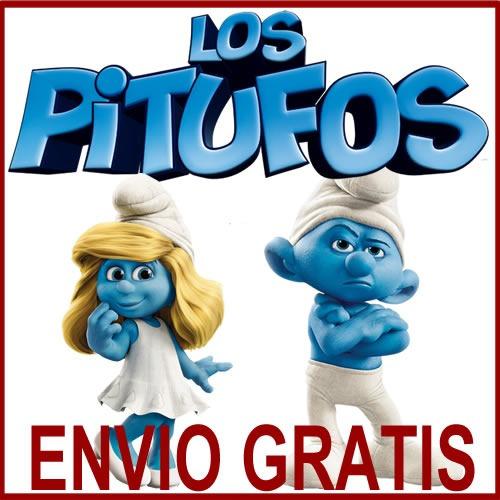 Kit Imprimible Los Pitufos Tarjetas Cumples Invitaciones - $ 34,96 ...
