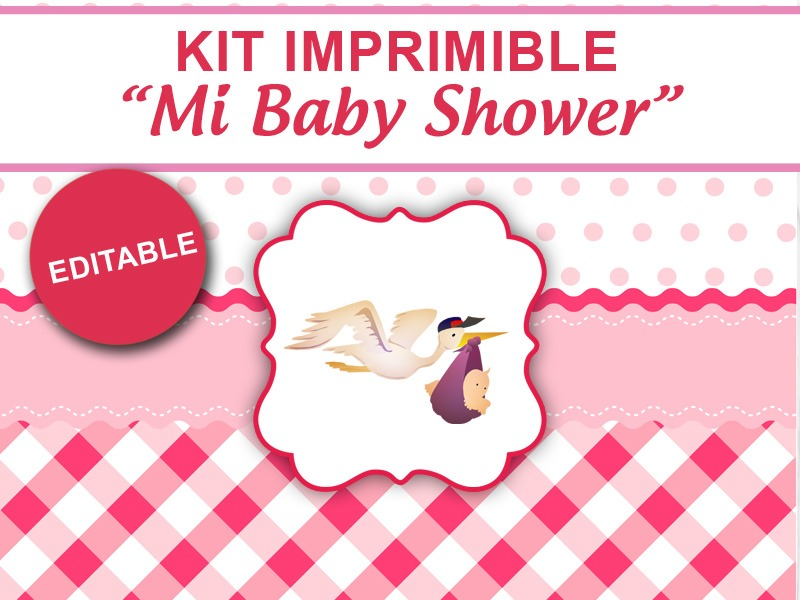 Kit imprimible mi baby shower para nena candybar golosinas for Follando en la oficina gratis