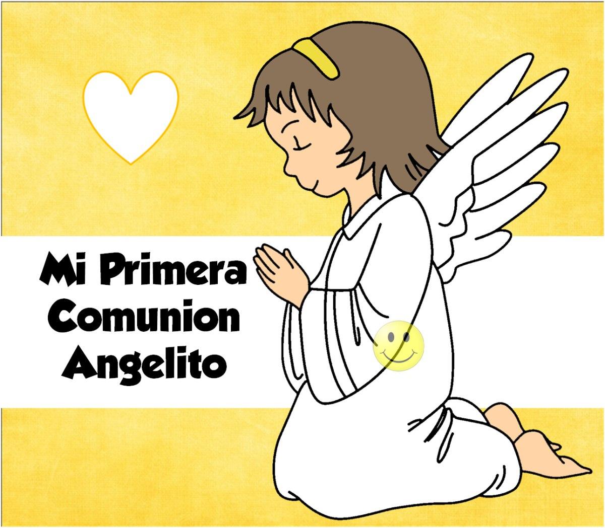 Kit Imprimible Mi Primera Comunion Angelito Nena - $ 39,00 en ...