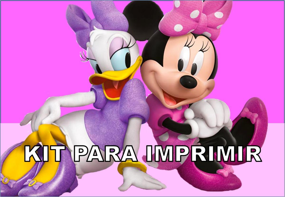 Kit imprimible minnie rosa la casa de mickey mouse - Casa de minnie mouse ...