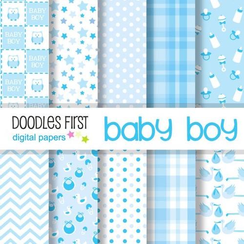 Kit Imprimible Pack Fondos Baby Shower 3 Clipart - $ 10,99 en ...