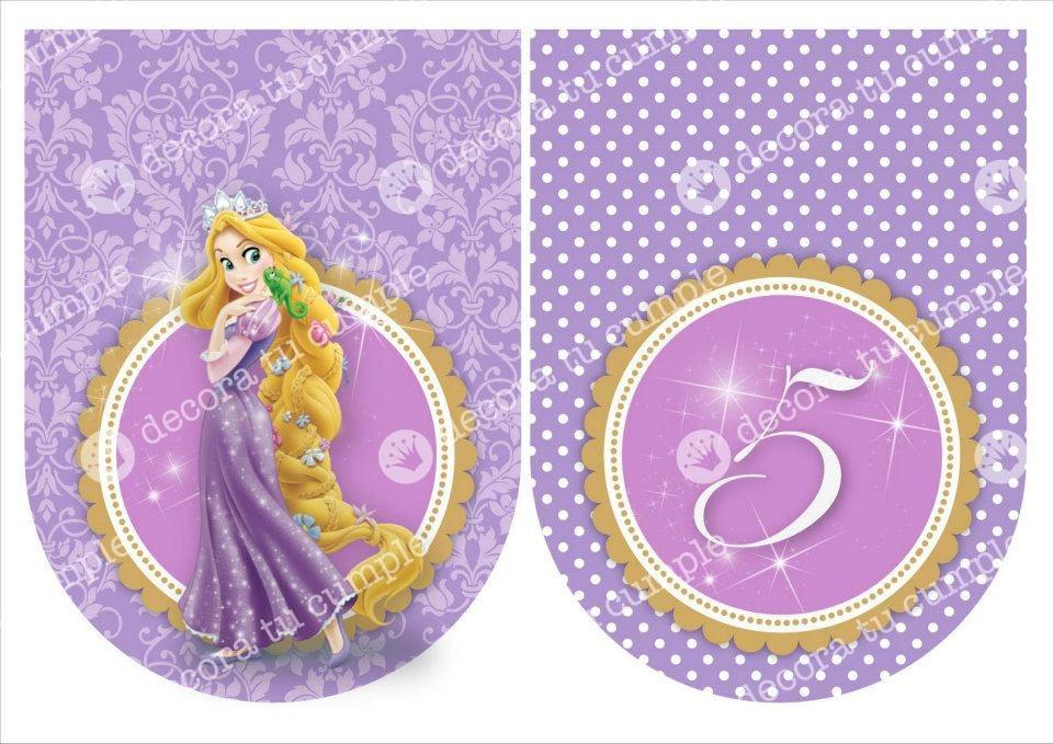 Decoracion Rapunzel Disney ~ Kit Imprimible Rapunzel Disney Decoraci?n Fiestas Cumplea?os