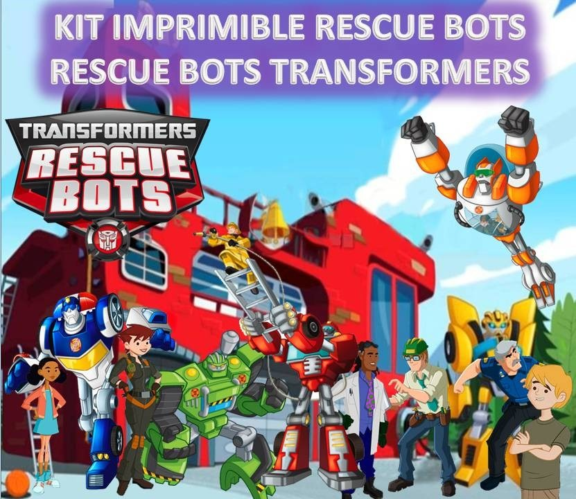 mla 483729070 kit imprimible rescue bots rescue bots transformers jm