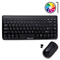 Teclado Mini + Mouse Inalámbrico Verbatim Usb Nano Smart Tv