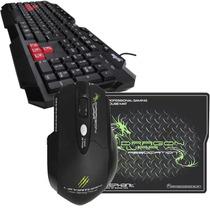 Kit Gamer Nisuta Teclado Mouse Pad Grande Combo Juegos Usb