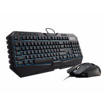 Kit Teclado Mouse Retroiluminado Cooler Master Octane 7 Led
