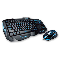 Kit Teclado Y Mouse Noga Gamer Multimedia 2400dpi Led Slim