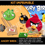 Kit Imprimible Angry Birds 2x1 !! Cumple Tarjetas Candybar