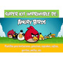 Kit Imprimible De Angry Birds-candy Bar, Invitaciones,etc