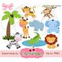 Kit Imprimible Animalitos De La Selva 18 Imagenes Clipart