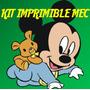 Kit Imprimible Mickey Bebe Baby Tarjeta Invitacion Candy 2x1