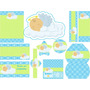 Kit Imprimible Baby Shower Bautizo Comunion Angelito Nube