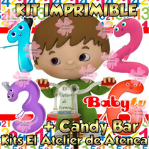 Kit Imprimible Baby Tv Charlie Y Los Numeros Candy Bar 2x1