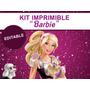 Kit Imprimible Editable Barbie, Candy Bar, Golosina, Sticker