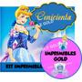 Kit Imprimible Princesa Cenicienta Invitaciones Y +editable