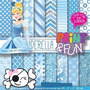 Kit Imprimible Pack Fondos Princesa Cenicienta Clipart