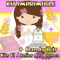 Kit Imprimible Primera Comunion Nena Candy Bar Golosinas 2x1