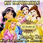 Kit Imprimible Candy Bar Golosinas Princesas - Envio Gratis
