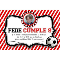 Kit Imprimible Futbol River Invitaciones Cumpleaños Varón