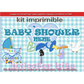 Kit Imprimible Candy Bar Baby Shower Nenes Juegos Cotillón