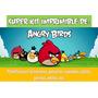 Kit Imprimible Angry Birds-candy Bar,invitaciones,cotillón