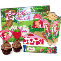 Kit Imprimible Frutillita Para Cumpleaños Super Candy Bar