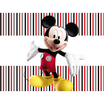 Kit Imprimible Mickey Mouse 2en1 Candy Bar + Cotillon Y Mas!