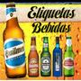 Kit Imprimible Etiquetas Bebidas Personalizadas Editable 2x1