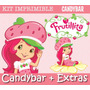 Kit Imprimible Frutillitas - Candy Bar Invitaciones + Extras