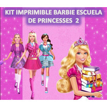 Kit Imprimible Barbie Esc. Princ. 2